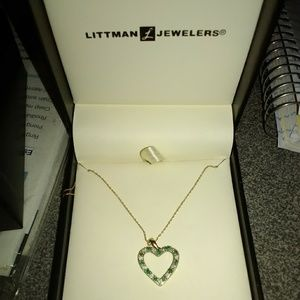 Litman Jewelers gold heart necklace